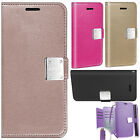 For LG Rebel 4G LTE Leather 2 Tone Wallet Case Pouch Flip Cover + Screen Guard