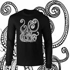 Tentacles Mysterious Octopus Longsleeve Black T-shirt Youth - Adult