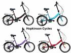 "Tiger FOLDING CYCLE Bike BLACK or RED Bicycle 20"" Wheel Shimano Gears NEW"