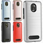 For LG X Charge IMPACT TUFF HYBRID Protector Hard Case Skin Cover + Screen Guard