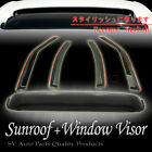 "06-09 Dodge Charger Window Vent Shade Visor + 42"" Top Moonroof Sun Roof Combo"