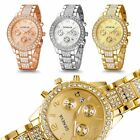 Fashion Luxury Women's Crystal Stainless Steel Band Quartz Analog Wrist Watches