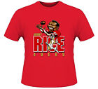 JERRY RICE CARTOON 49ER T-shirt - CUSTOM DESIGN RARE ART **FULL FRONT OF SHIRT** image