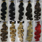 "22""-26"" Remy Stick I-Tip Body Wavy Curly In Human Hair Extensions 100s 1g/s 100g"