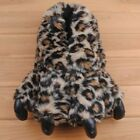 Grizzly Bear Paw Plush Fuzzy Slippers Fun Winter Animal Claw Feet Indoor Shoes