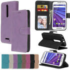 Luxury Flip Wallet Retro Phone Case PU Leather Cover Skin for Motorola MOTO