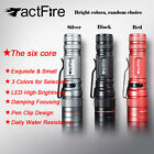 Mini LED Flashlight Waterproof 3-Mode Retractable Zoomable Torch Light 3-Color