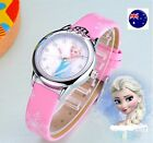 Child Kid Girl Frozen Anna Elsa Synthetic leather Wrist Watch Xmas Birthday Gift