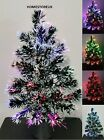 '45cm Fibre Optic Christmas Xmas Tree Colour Changing Battery Operated Light Up