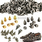 Внешний вид - 200 PCS Trendy 10MM Silver Spots Cone Screw Metal Studs Rivet Bullet Spikes DIY