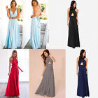 Women's Long Maxi Evening Bridesmaid Formal Multi Way Prom Party Ball Gown Dress