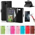 Flip PU Leather Wallet Case Magnet Flip Stand Card Cover For Huawei Y6 Elite 4G