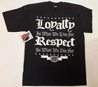 Loyalty Respect What We Die For Black Shirt L-3XL Screen Printed Piranha Records