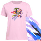 Ladies T-shirt Dreamcatcher with Feathers Watercolor Art XS - 2XL