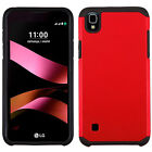 For LG Tribute HD HARD Astronoot Hybrid Rubber Silicone Cover +Screen Protector