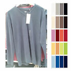 UNIQLO Men SOFT TOUCH V NECK LONG SLEEVE T-SHIRT Choose Colors NEW 172339