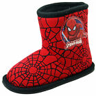 Superhero Boys Marvel Spiderman Black Red Slipper Boots Kids  Slippers Size