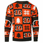 Cincinnati Bengals Ugly Patches Christmas Sweater NEW All Sizes $47.95 USD on eBay