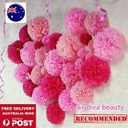 Wedding Party Honeycomb Flower Lantern Paper Pom Poms hanging Decor Decoration