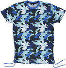 Imperious Sublimated Camo Shirt Yarn Mens Regular Fit T-Shirt Blue S-2XL Fashion