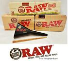 RAW Rolling Papers Brand 32 (1 1/4) Organic Hemp Cones+Storage Tin+Filler/Loader