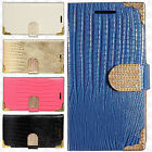 For Samsung Galaxy Luna Premium Leather Wallet Pouch Flip Crocodile Skin Cover