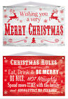 Christmas Wooden Plaques Signs - Merry Christmas - Christmas Rules Gift