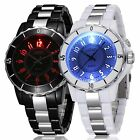 OHSEN Men's Couples LED Quartz Wrist Watches Casual Stainless Steel Waterproof
