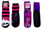 MONSTER HIGH MY LITTLE PONY Pinkie Pie Mucklucks Padded Slipper Socks Ages 3-10
