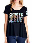 Love BFA Beauty for Ashes Womens Plus Choose Jesus Be Saved Bold Flowy T Shirt