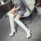 Women Stilettos Sexy Lace High Heels Over The Knee Boots Winter Warm Vogue Shoes