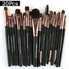 20PCS Cosmetic Make up Brushes Set Foundation Blusher Eyeshadow Lip Brush Tools
