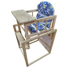 Baby Toddle Dinning Feeding Highchair Detachable Multi-function Wooden Seat