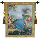 Capri Vista Belgian Woven Art Decor Wall Hanging Cotton Tapestry