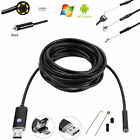 2in1 6LED Endoscope Borescope Snake Inspection Camera for Android Windows PC