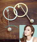 korean drama the producer Gong Hyo-jin Pearl Back Drop Earring White Gold Plated