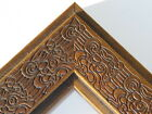 "2.3"" Mayan Walnut Brown Solid Wood Canvas Picture Frame-Custom Standard"