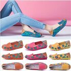 New Women Soft Floral Flower Leather Moccasins Flats Pumps Ballet Loafers Shoes