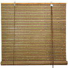 Burnt Bamboo Roll Up Blinds - Multi-color Weave