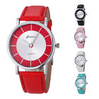 Geneva Women Watch Fashion Retro Dial Leather Analog Quartz Wrist Watch tb
