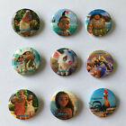 New 9-90PCS Moana Cartoon Button pin button brooch badge 30MM kid christmas gift