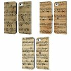 HEAD CASE DESIGNS MUSIC SHEETS LEATHER BOOK WALLET CASE FOR APPLE iPHONE 5C