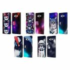 HEAD CASE DESIGNS STRANGE CATS LEATHER BOOK WALLET CASE FOR SAMSUNG GALAXY J7