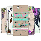 HEAD CASE DESIGNS LOVE FEATHERS HARD BACK CASE FOR SONY XPERIA Z
