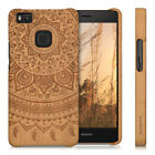 kwmobile WOOD COVER FOR HUAWEI P9 LITE DESIRED COLOUR ROSEWOOD CASE BACK HARD