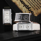 Fashion Women's Mens Dual Dial Leather Band Analog Date Hours Casual Wrist Watch