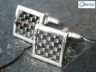 High Quality Stainless Steel Cuff links Black Chequered Birthday Gift Idea CU002