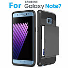 Hybrid Card Pocket Bumper Case Shockproof Cover Armor For Samsung Galaxy Note 7