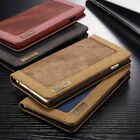 Canvas Leather Flip Stand Wallet Phone Case Cover For iPhone 6 6S Plus 5 5S SE