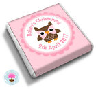 Personalised OWL Baby Girl Boy Shower Christening Birthday Favour Chocolates